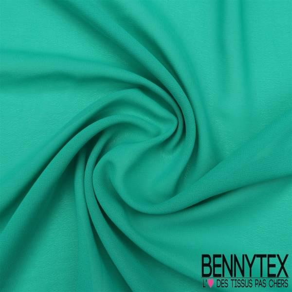 Mousseline Polyester Crêpé Gamme KENZA Couleur Vert Jade