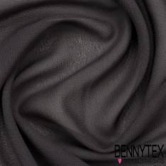 Mousseline Polyester Crêpé Gamme KENZA Couleur Anthracite