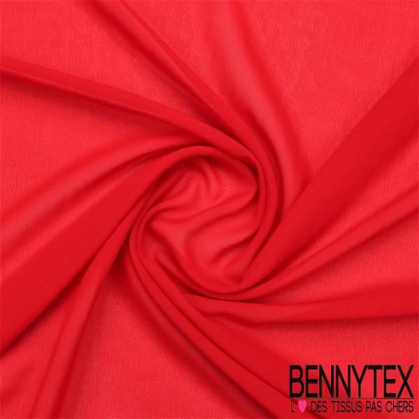Mousseline Polyester Crêpé Gamme KENZA Couleur Rouge