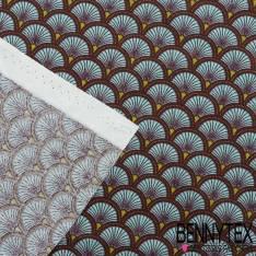 Toile Lorraine 100% Coton Modèle DOUCET Ton Bleu
