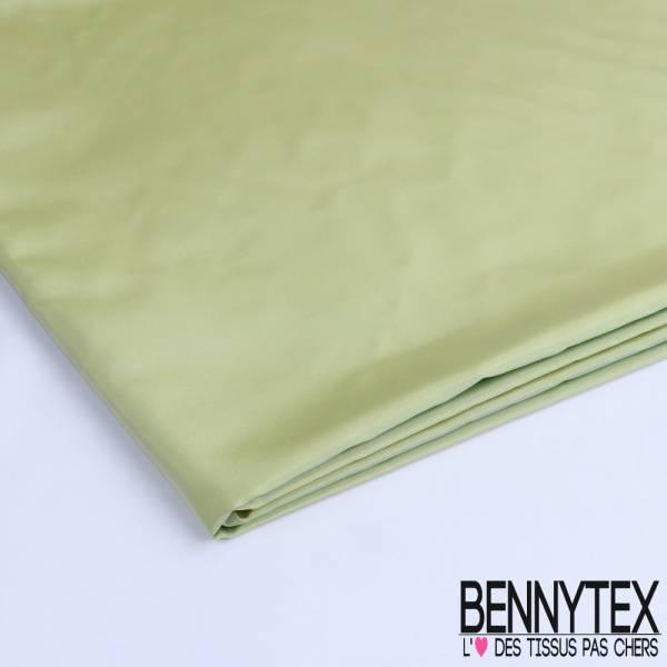 Coupon Taffetas Lisse Polyester Couleur Vert D'eau