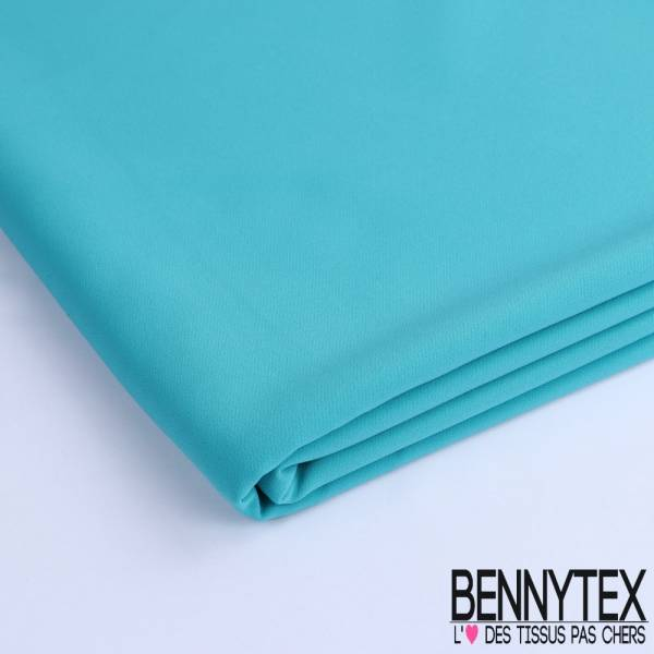 Coupon Double Crêpe Polyester Élasthanne Lourde Couleur Bleu Turquoise