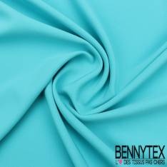 Double Crêpe Polyester Élasthanne Lourde Couleur Bleu Turquoise