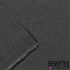 Coupon Satin Coton Polyester Élasthanne Couleur Noir