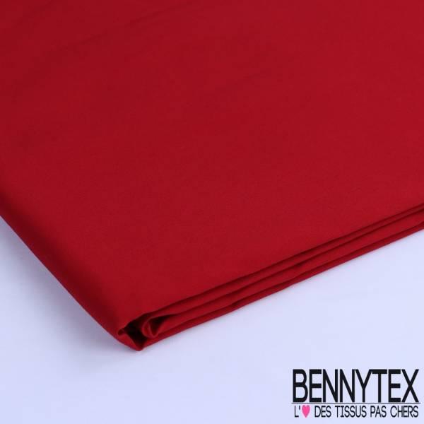 Coupon Tissu Toile Bengaline Lourde Couleur Rouge