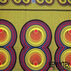 Wax Africain N°061 : Motif Sillon Rond
