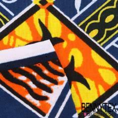 Wax Africain N°065 : Motif Gothique Ton Orange