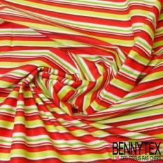 Coton Imprimé CAMDEN Rayure Multicolor