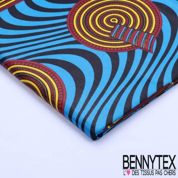 Wax Africain N°071 : Motif Cercles et Carré