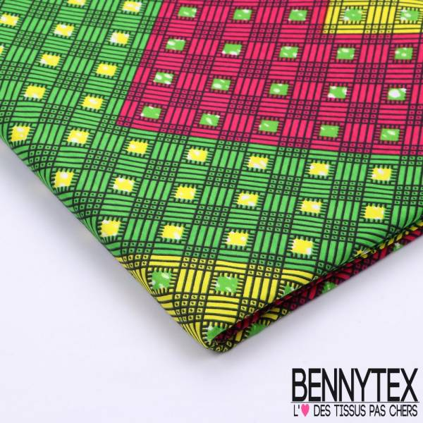 Wax Africain N°078 : Motif Grand Chevrons Multicolore