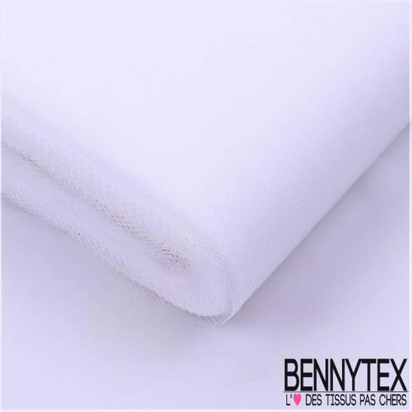 Tissu Tulle Rigide Uni Couleur Blanc