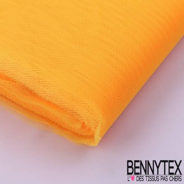 Tissu Tulle Rigide Uni Couleur Orange Fluo