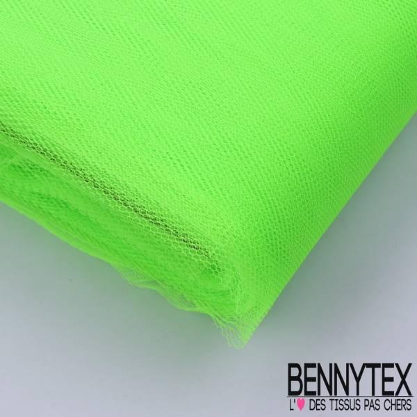 Tissu Tulle Rigide Uni Couleur Vert Fluo