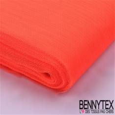 Tissu Tulle Rigide Uni Couleur Corail Fluo