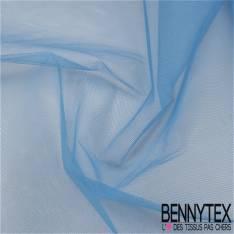 Tissu Tulle Rigide Uni Couleur Bleu Lavande