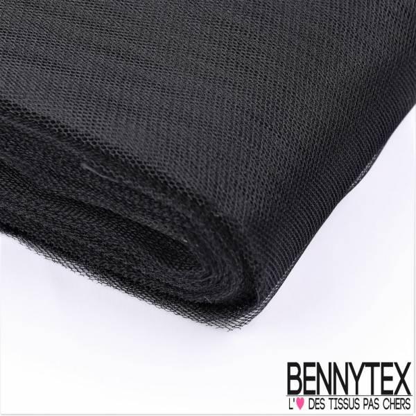 Tissu Tulle Rigide Uni Couleur Noir