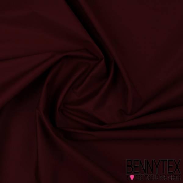 Popeline Coton Prune (Lycra) - QUALITE PREMIUM