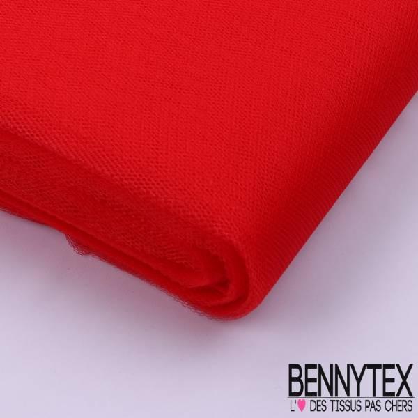 Tissu Tulle Rigide Uni Couleur Rouge