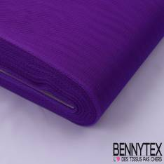 Tissu Tulle Rigide Uni Couleur Violet