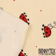 Jersey Coton Imprimé Modèle COCCY Motif Petite Coccinelle