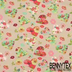 Jersey Coton Imprimé Modèle HEARTY Motif Coeur