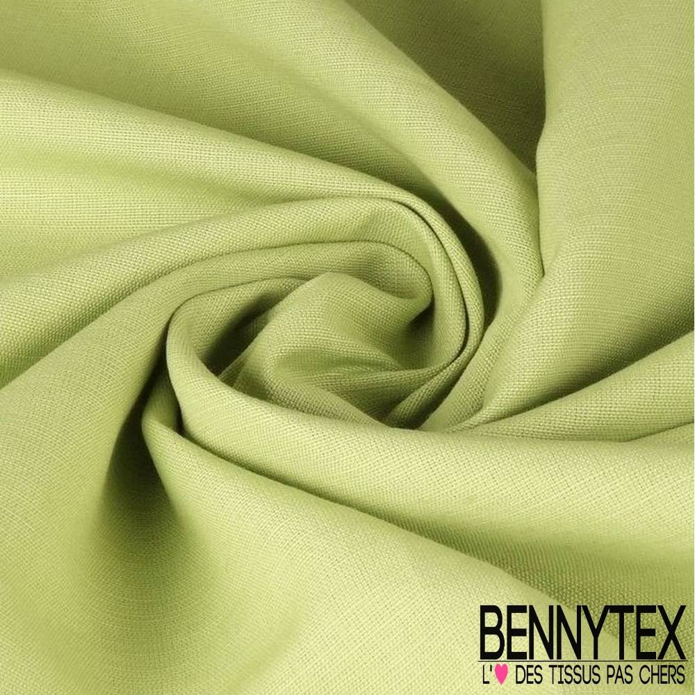 lin d'ameublement couleur vert anis | bennytex vente de tissus pas