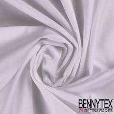 Piqué de Coton Polyester Blanc