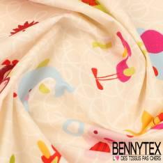 Cretonne 100 % Coton Modèle PELE-MELE Ton Multicolores