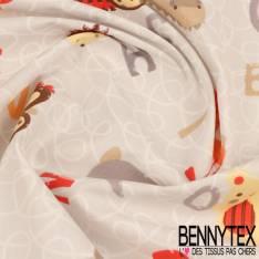 Cretonne 100 % Coton Modèle PELE-MELE Ton Gris