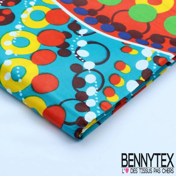 Wax Africain N°106 : Pois Multicolore