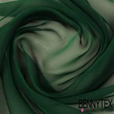 Mousseline de Soie Vert Sapin irisée