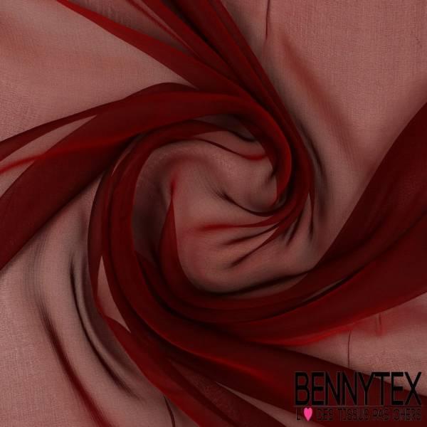 Mousseline de Soie changeante Rouge Grenat