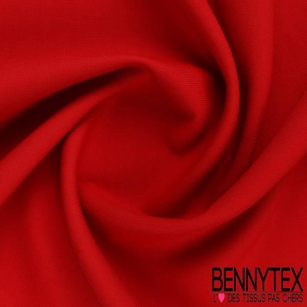 Gabardine Sergé Polyester viscose couleur rouge