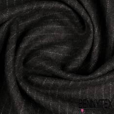 Drap de Lainesouple à fine rayure perle fond anthracite