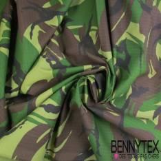 Coupon Toile Imprimé Camouflage Militaire