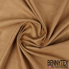 Jersey suedine polyester couleur sable
