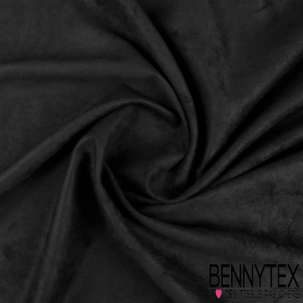 Jersey suédine polyester couleur noir