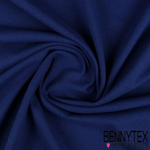 Molleton Coton Bouclette Bleu Outremer