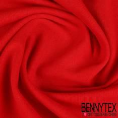 Molleton Coton Bouclette Rouge