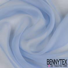 Crêpon Mousseline de Soie Bleu Charrette