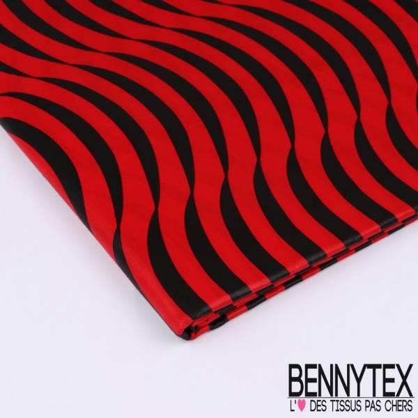 Wax Africain N°170: Motifs Croisants de Lune Rouge et Noir successifs