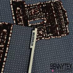 Wax Africain N°175: Motifs Arc de Triomphe Choco fond Imprimé Cravate Marine