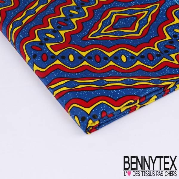 Wax Africain N°190: Motif Inca Multicolore