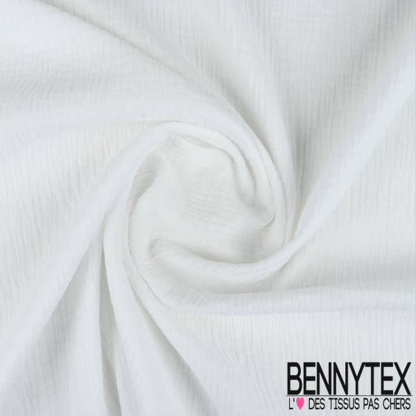Coton Double Gaze Blanc