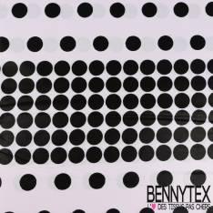 Edition limitée Wax Africain N° 242: Motif Petits Pois Noir fond Blanc Rétro