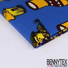 Edition limitée Wax Africain N° 261: Motif Hutte Africaine fond Bleu Roi