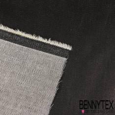 Tissu Denim Jeans Coton Huilé coloris Noir