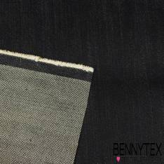 Denim Jeans Cergé Lurex Or Coloris Denim Brut non délavé