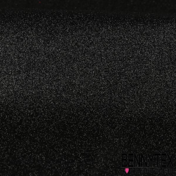 Gabardine de Coton Paillette Noir