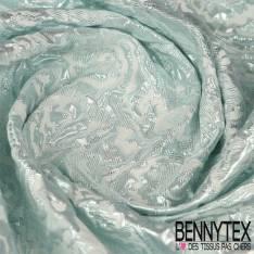 Brocart Motif Quintessence Bleu Glacier